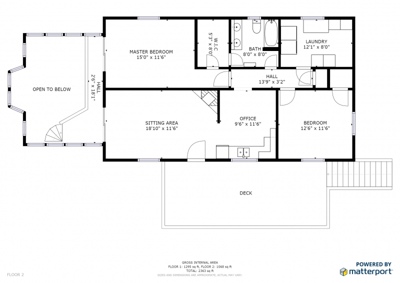 Floorplan upstairs 7720